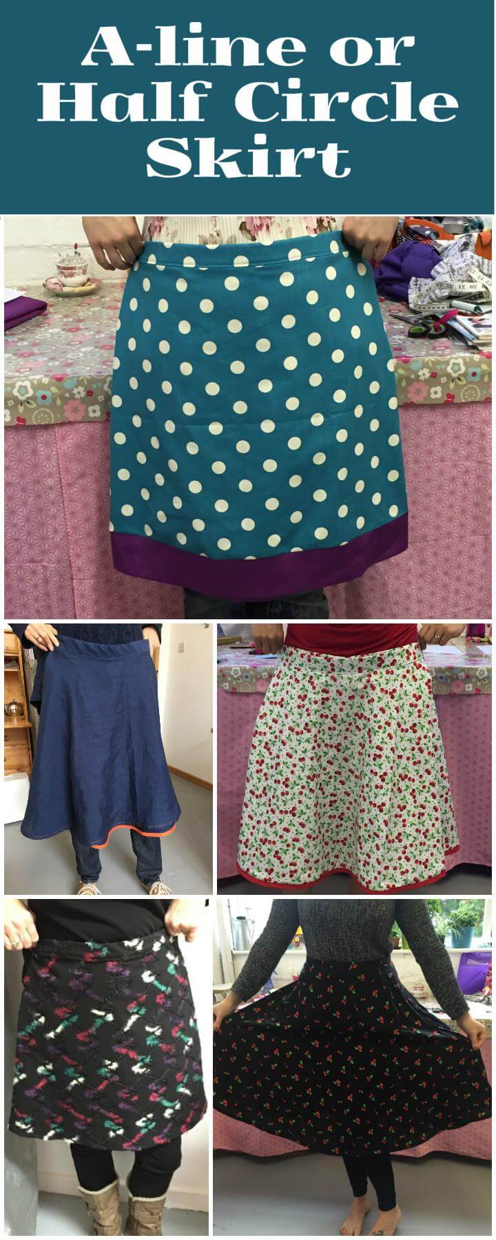 DIY a line or half circle skirt project