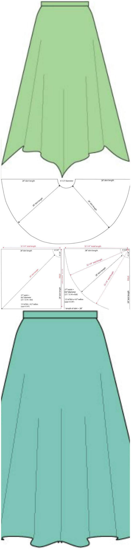 easy circle skirts and handkerchief hems