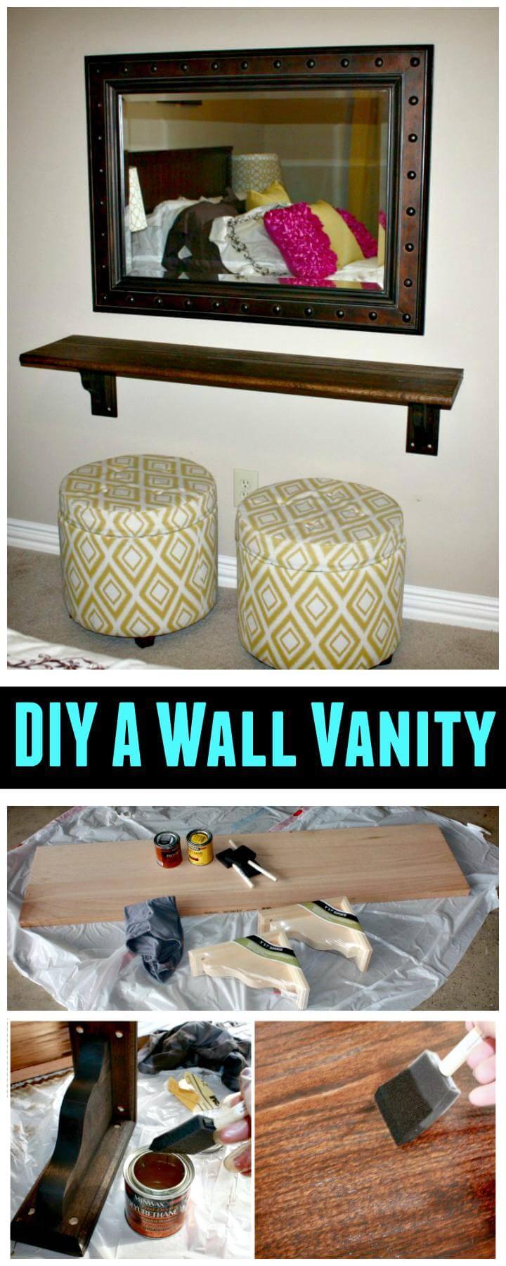 DIY a beautiful wall vanity