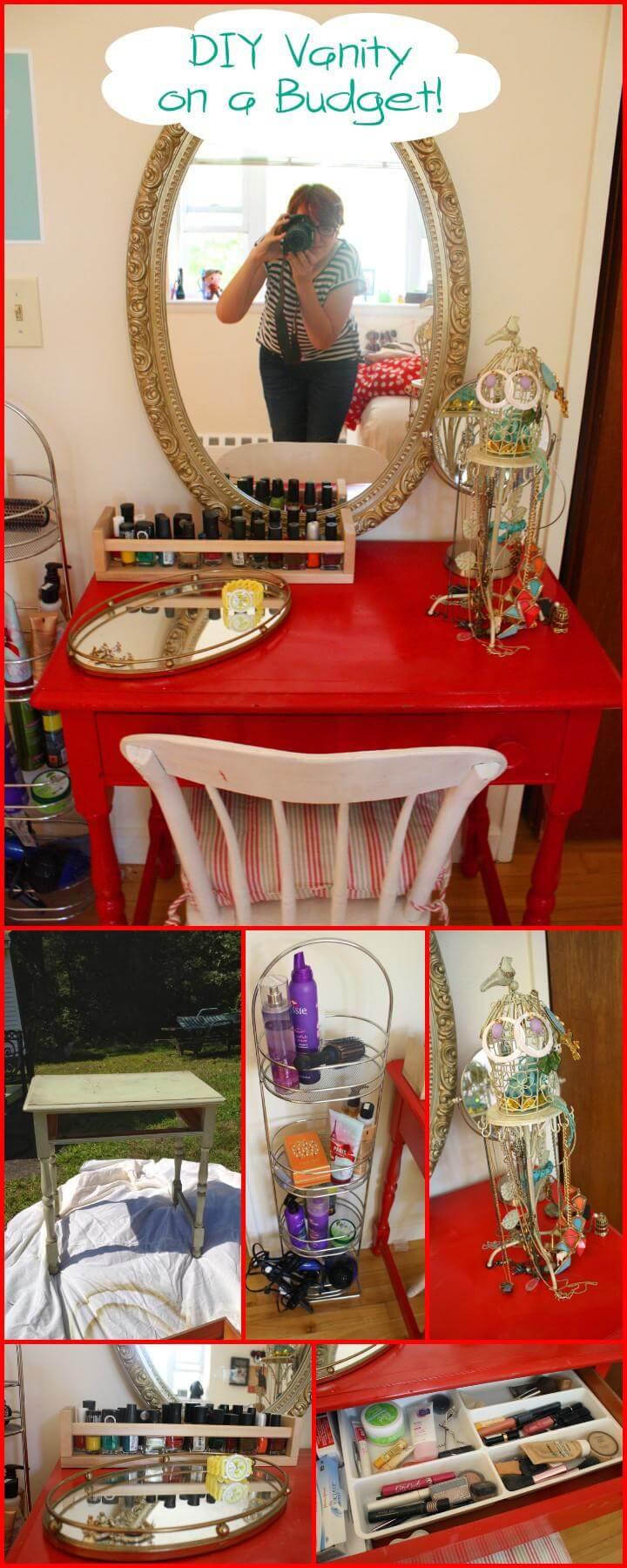 easy apartment size makeup vanity