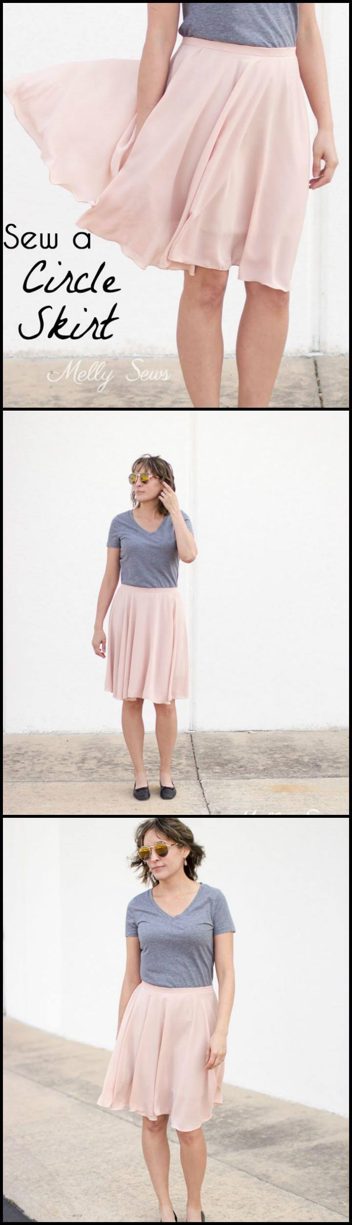 easy DIY circle skirt sewing tutorial