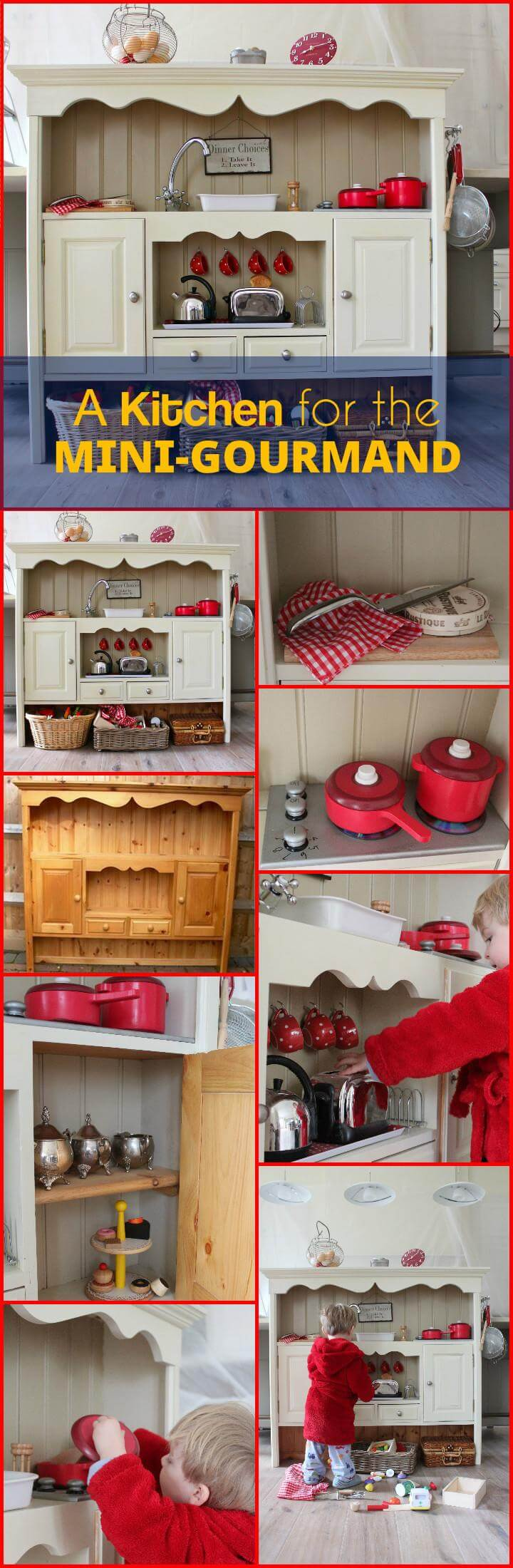 handcrafted playkitchen for the mini-gourmand
