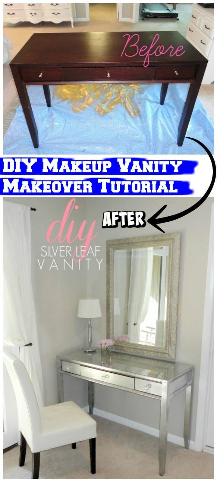 DIY easy makeup vanity makeover