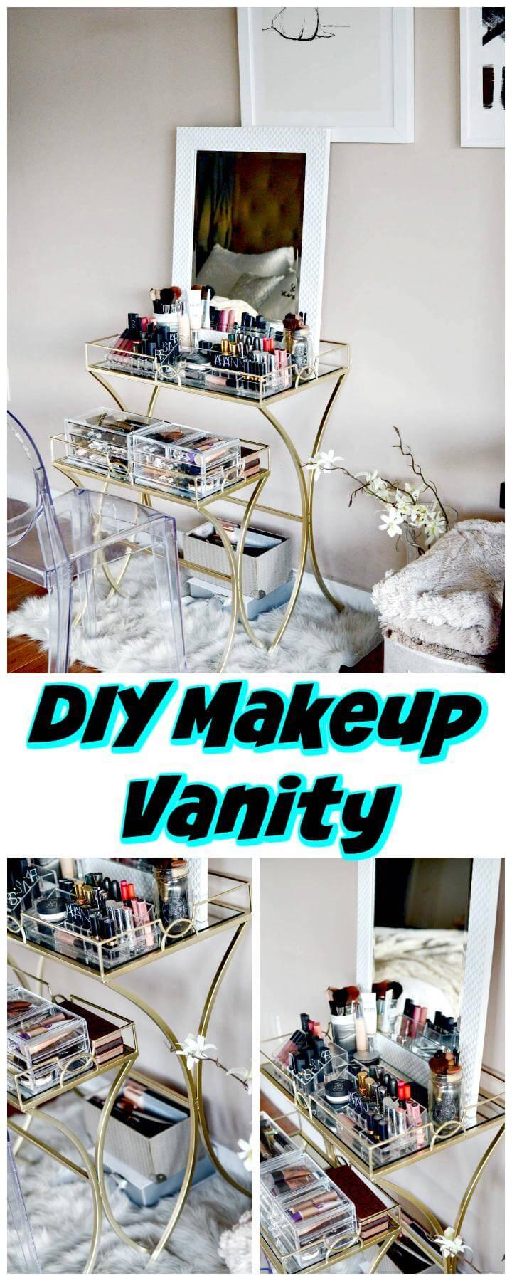 DIY makeup vanity tutorial