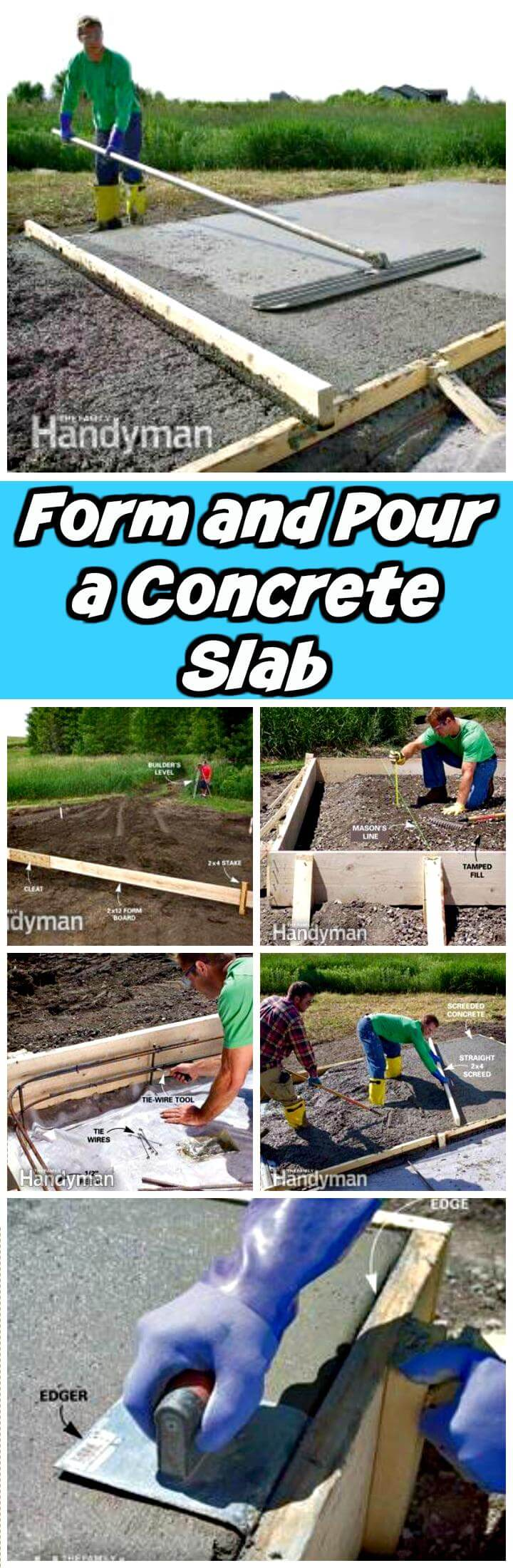 DIY form and puur a concrete slab