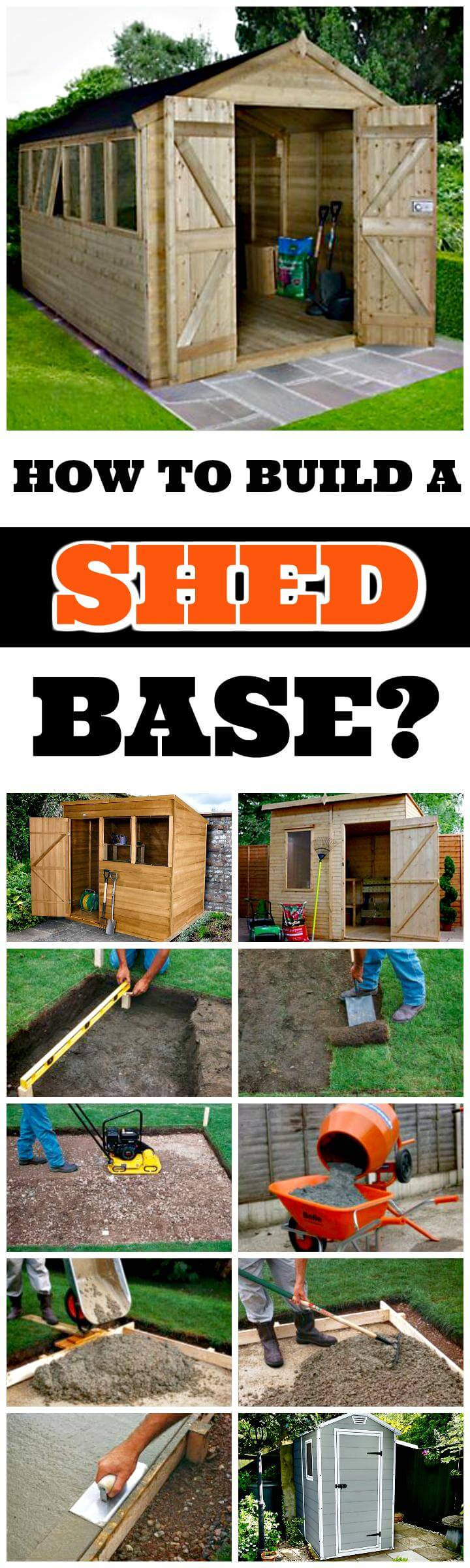 how to build a shed base