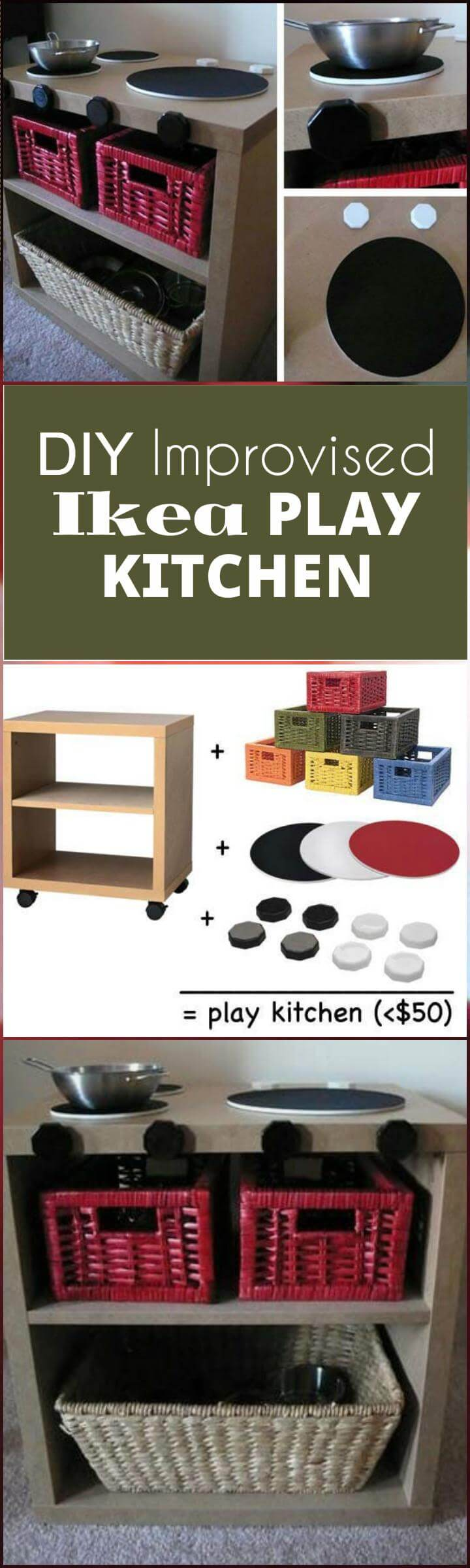 DIY ikea hack play kitchen