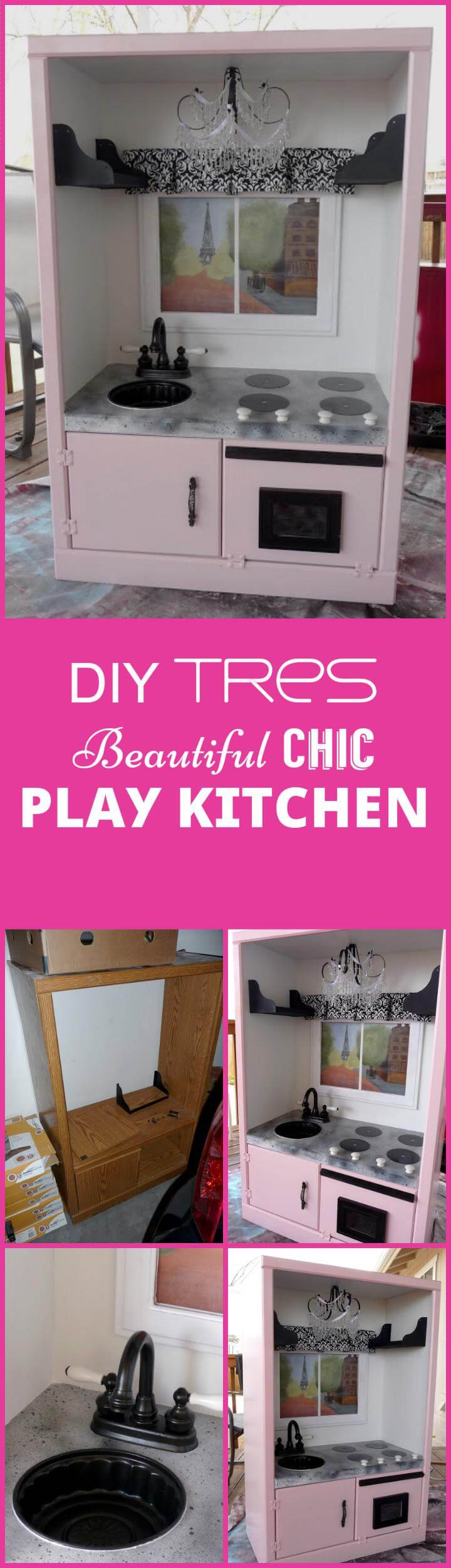 easy yet beautiful tres beautiful chic play kitchen