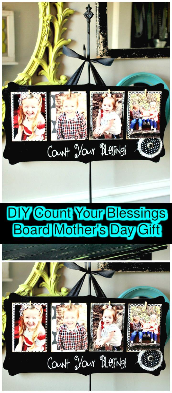 DIY count your blessings board Mother's Day Gift