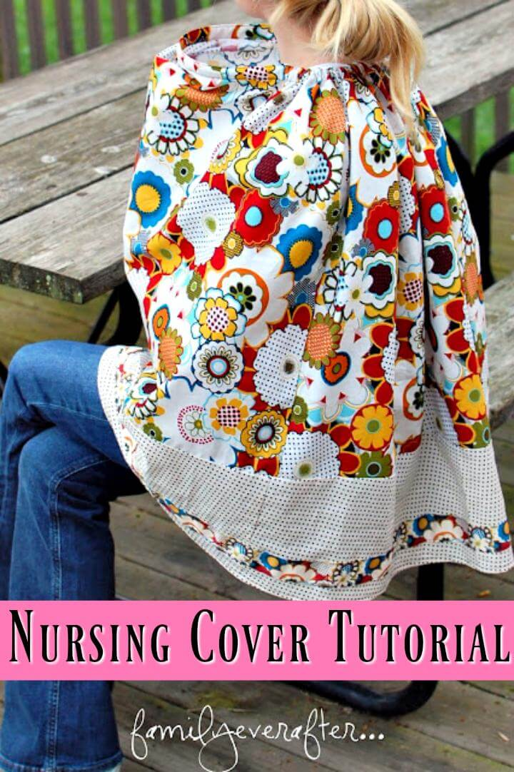 DIY nursing cover tutorial