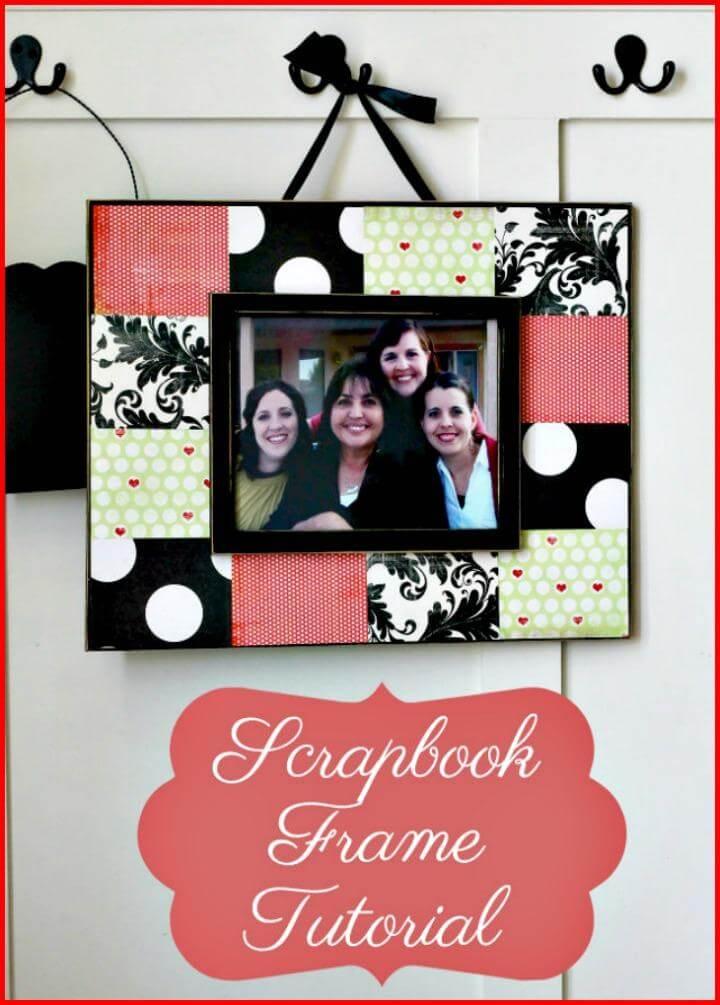 DIY scrapbook frame tutorial