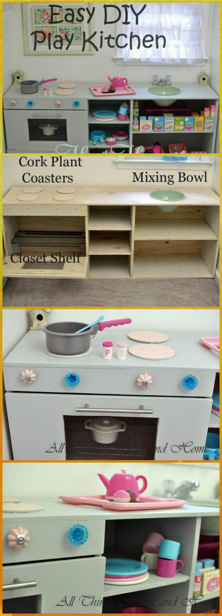 handcrafted easy kids play kitchen